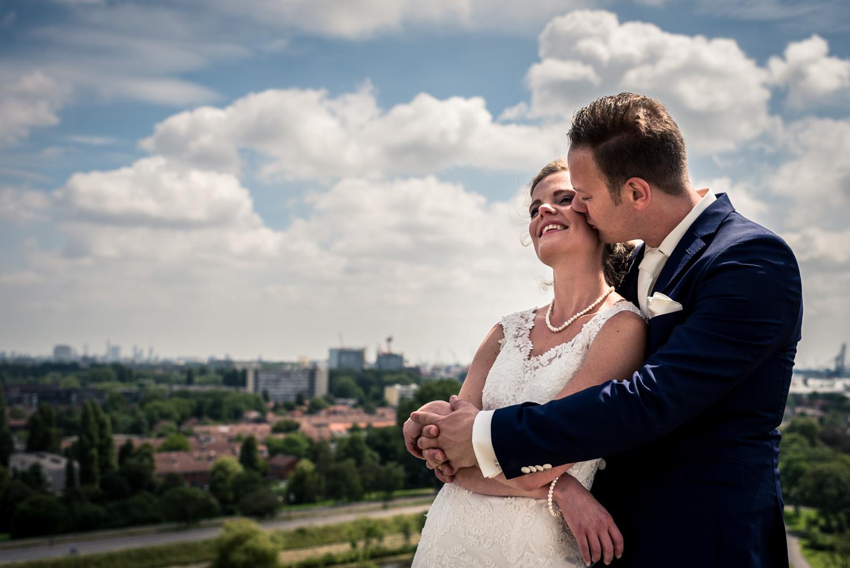 Rotterdamse bruiloft, ceremonie stadhuis Vlaardingen, feest bij de Arendshoeve in Bergschenhoek