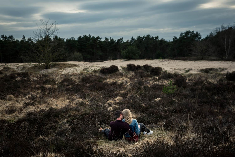 bruidsfotografie en een loveshoot een mooi overzicht over de hei