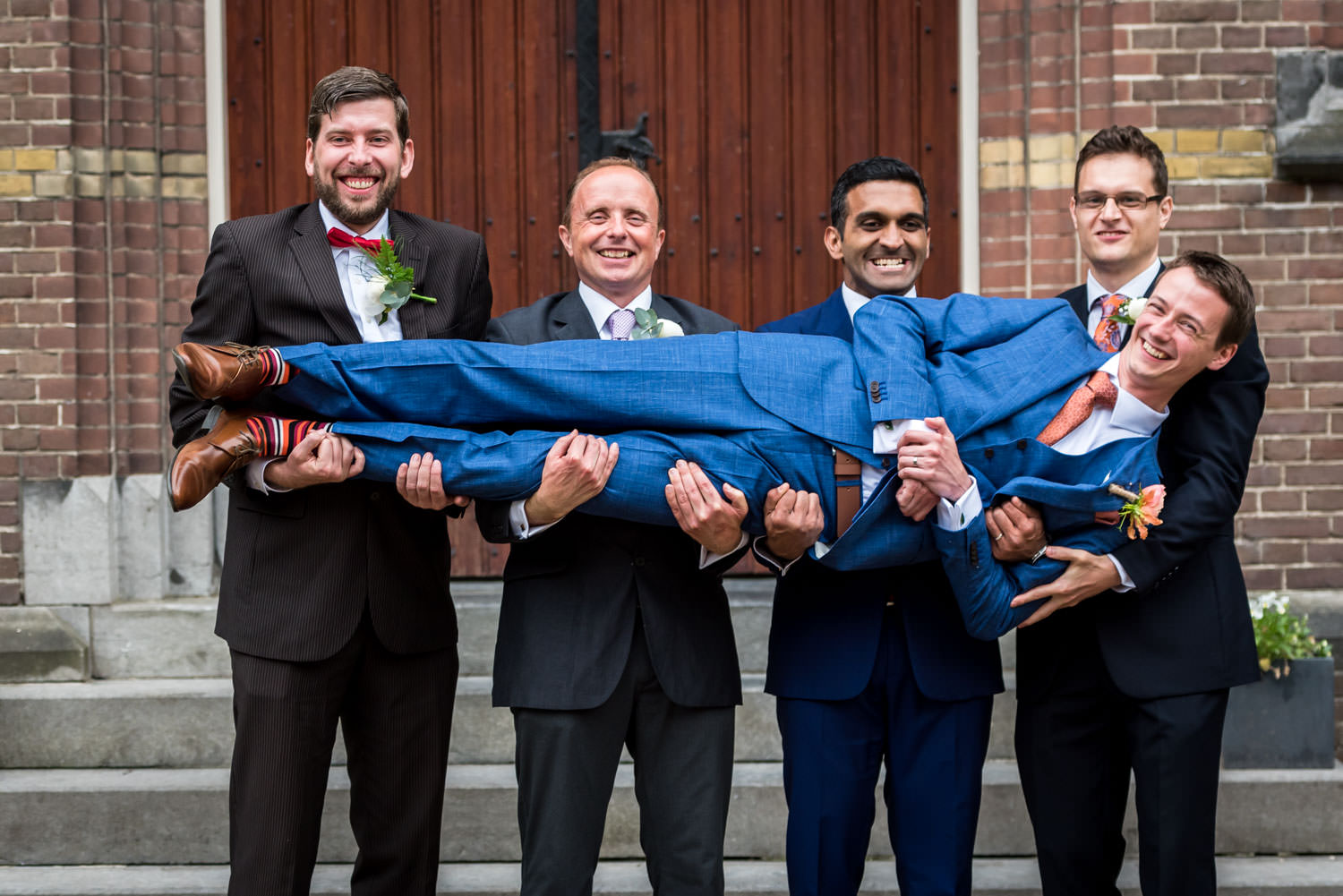 groom with his friends and best men