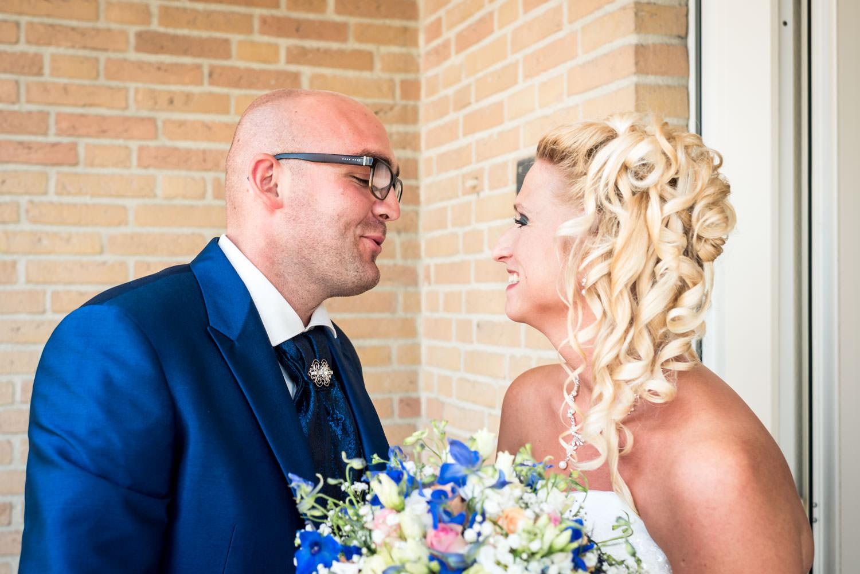 ontmoeting van het bruidspaar