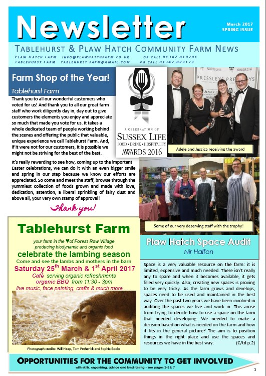 Coop Newsletter Spring 2017 - download pdf here
