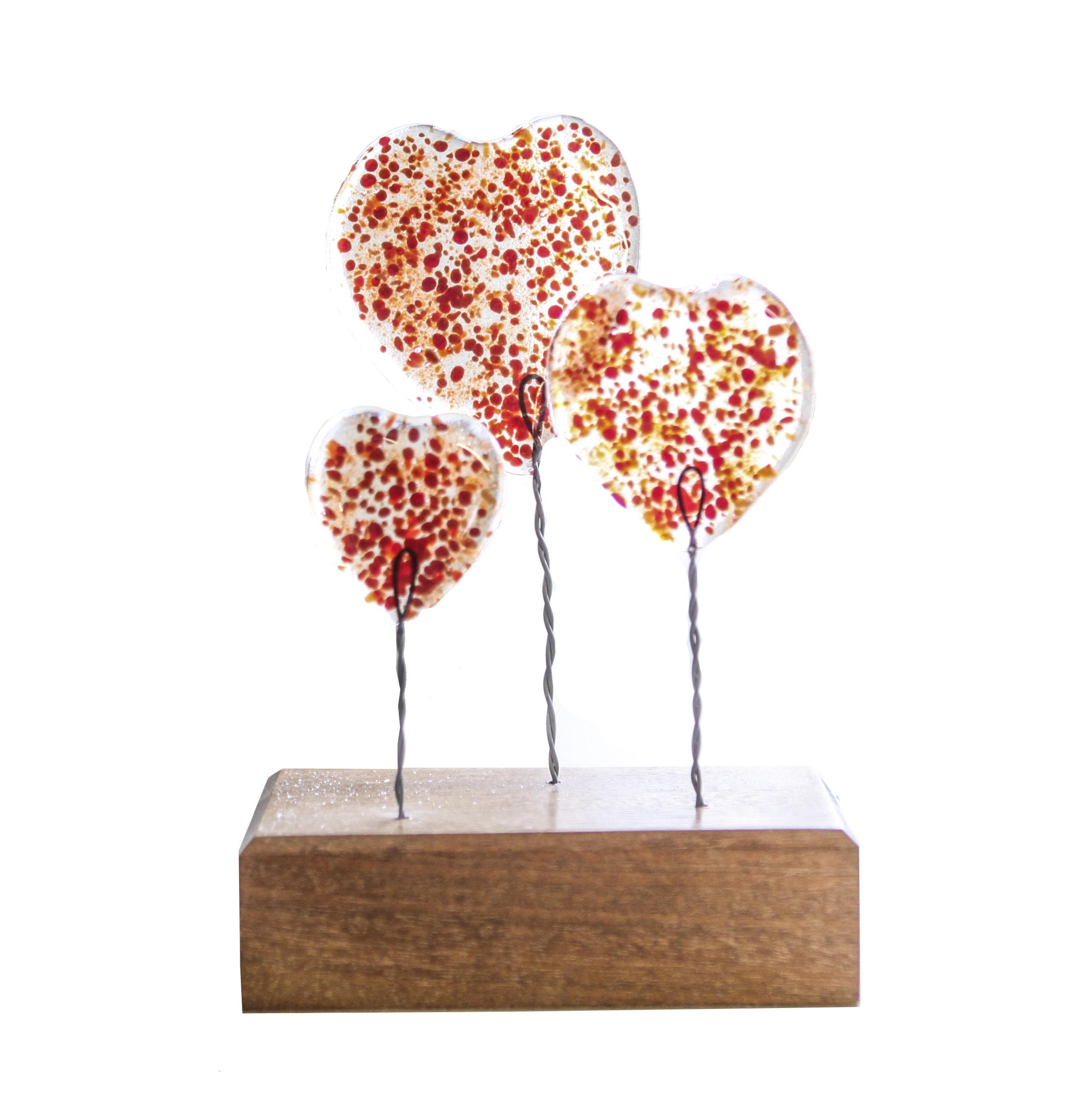 Glass Hearts, £12 -  Helen Matthews Glass