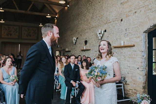 Another from Kate & Andrew's day. All the happy 😍 @merriscourtbarns