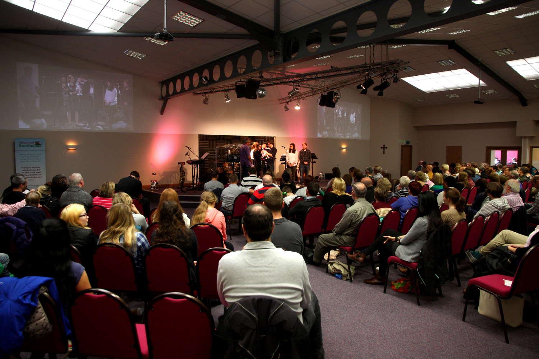 Dedication service in the auditorium - 2014