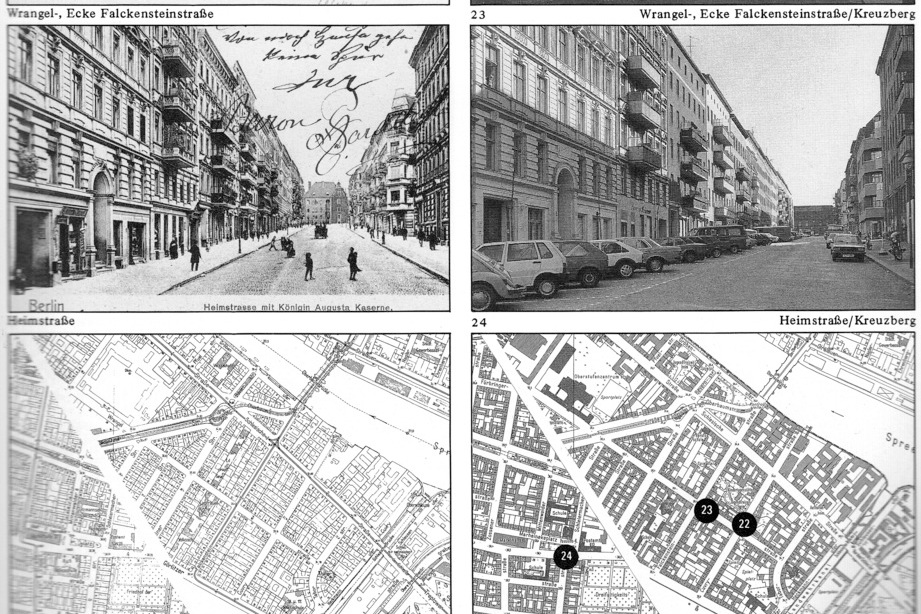 This example uses both maps and photographs to compare the streets of Berlin