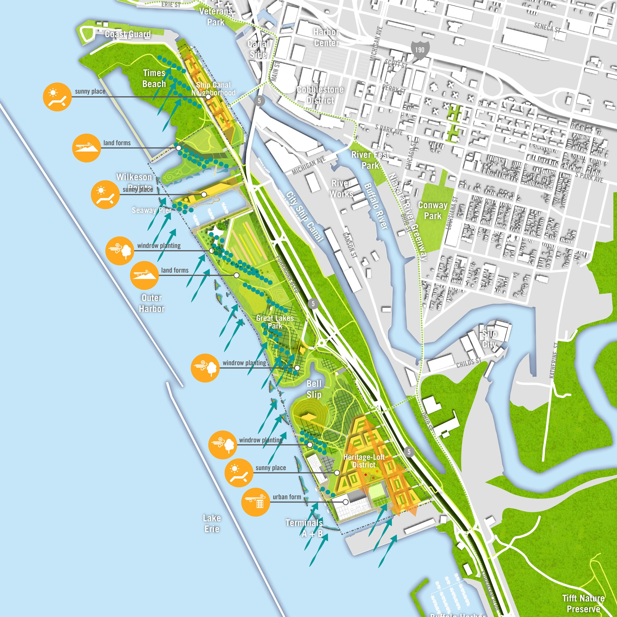 Buffalo Outer Harbor Master Plan by SCAPE and Perkins+Will  Source:  Arch Daily