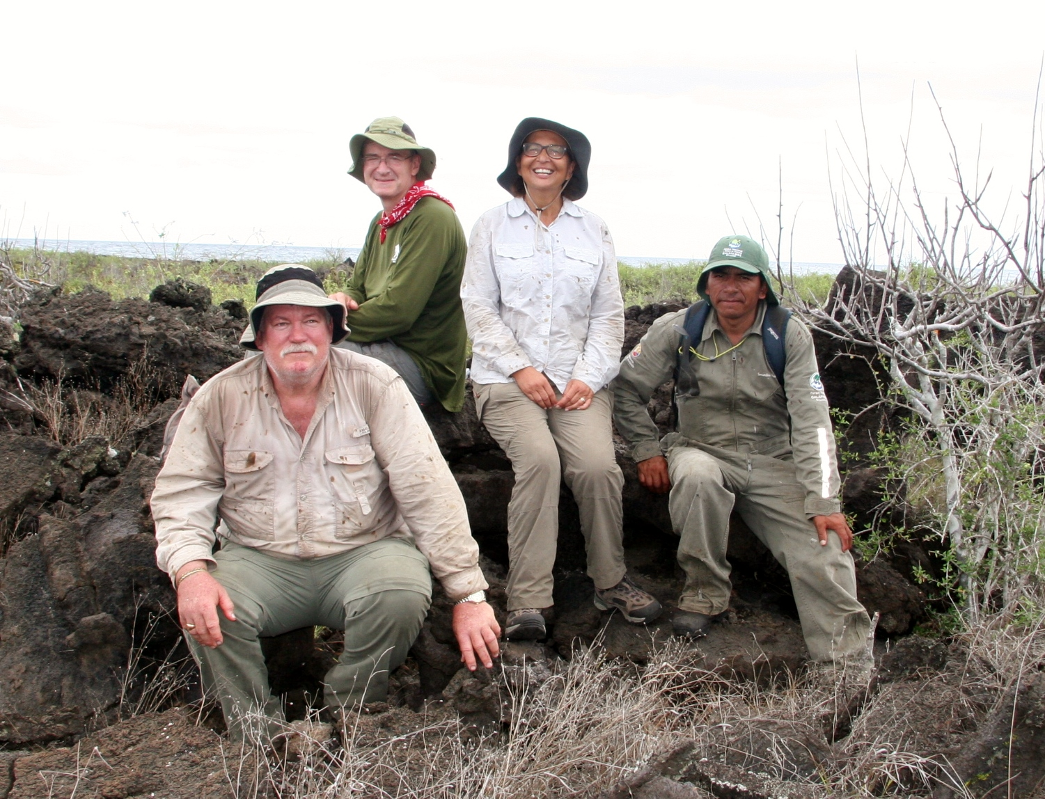 My team: Joe Flannagan, James Gibbs, Gisella Caccone and Secundino Masaquizo