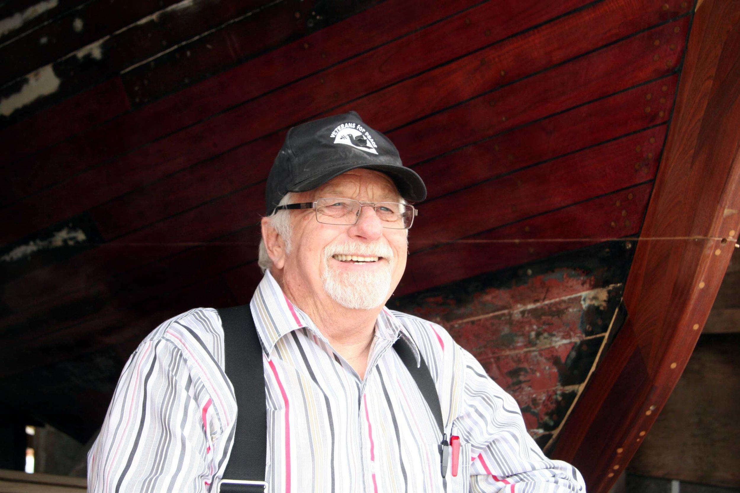 Chuck DeWitt, boat builder, Humboldt Bay