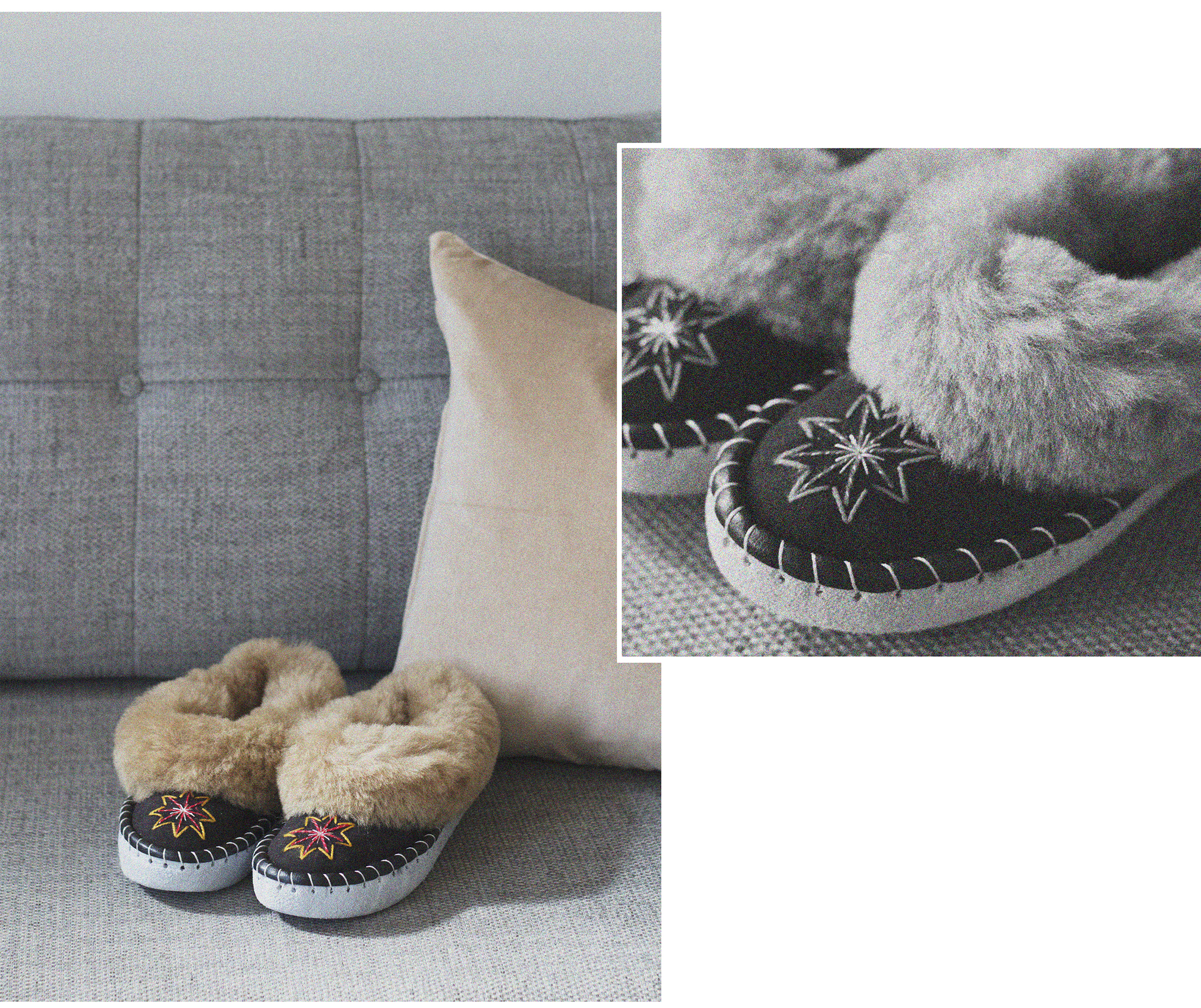 Handmade Sheepskin Moccasin Slippers, various styles sizes UK 3-8 available in-store