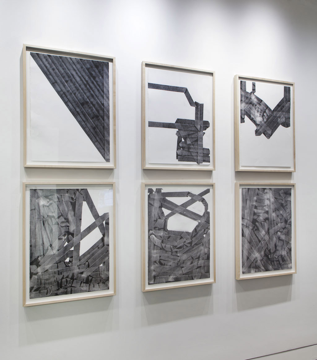 "10 Minute Drawings,  paint on paper, Ten drawings each 30"" H X 22.5"" W  2011"