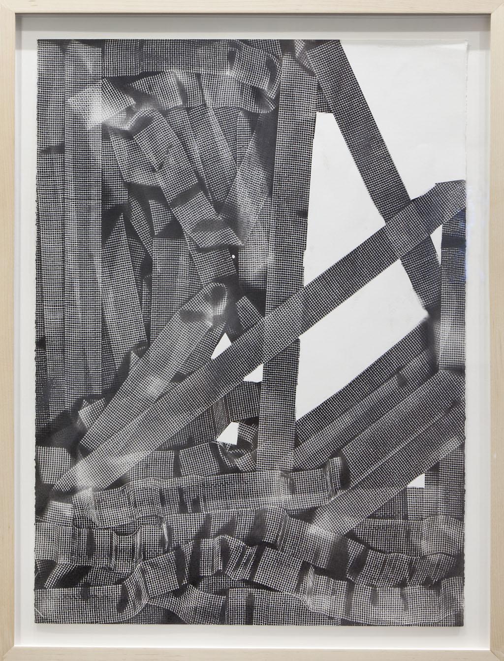 "10 Minute Drawings,  paint on paper, Ten drawings each 30"" H X 22.5"" W,  2011"