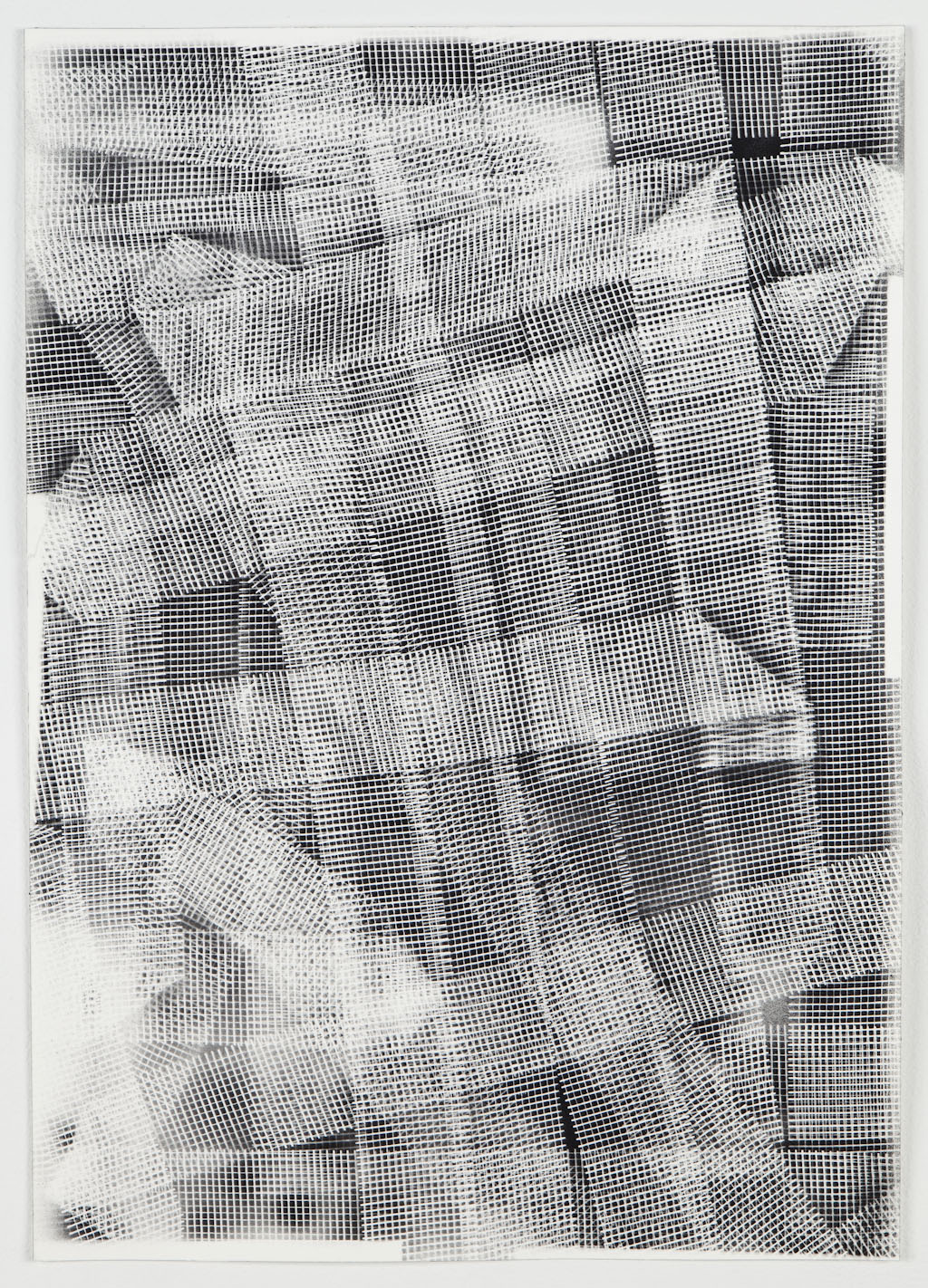 """Fabric Considerably, Acrylic on Paper, 20"""" H x 14"""" W, 2013"""