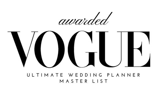 Vogue Wedding Planners Master List
