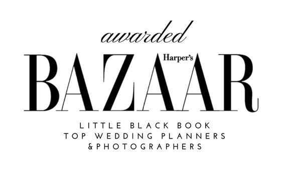 Harper's Bazaar top wedding planner photographer