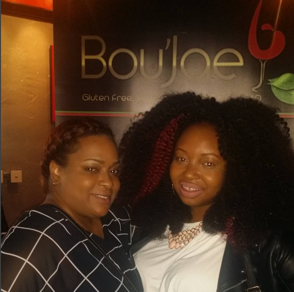 Publicist Keema from Queen's English PR and I during CIAA Weekend