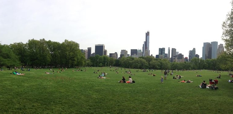 Central Park, it was lovely.