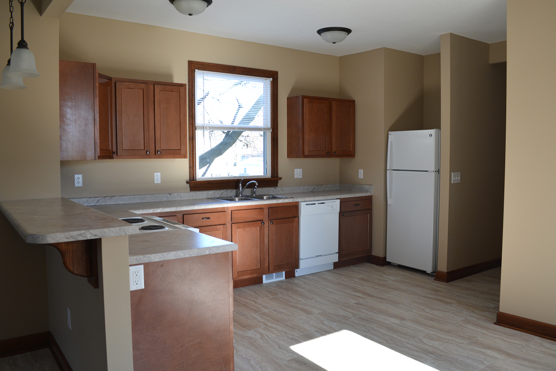 AFTER: Kitchen and hall