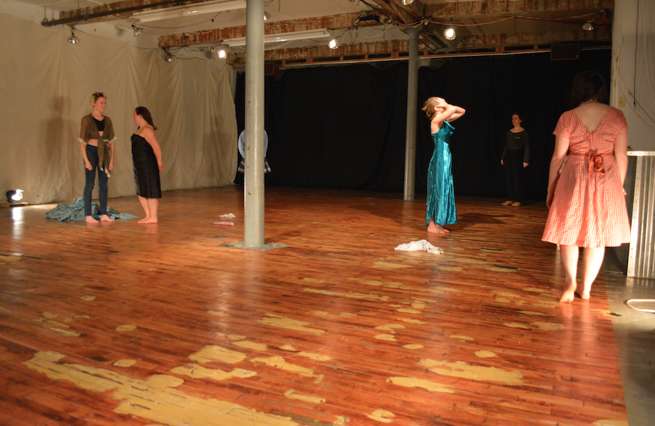 """""""Where Do My Hands Go? And Other Sweet Nothings"""" created by Erica Rice, Headlong Performance Institute Final Show, 2015."""
