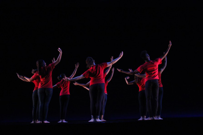 """""""The Secret History of Love"""" choreographed by Sean Dorsey, Bates College, 2014."""