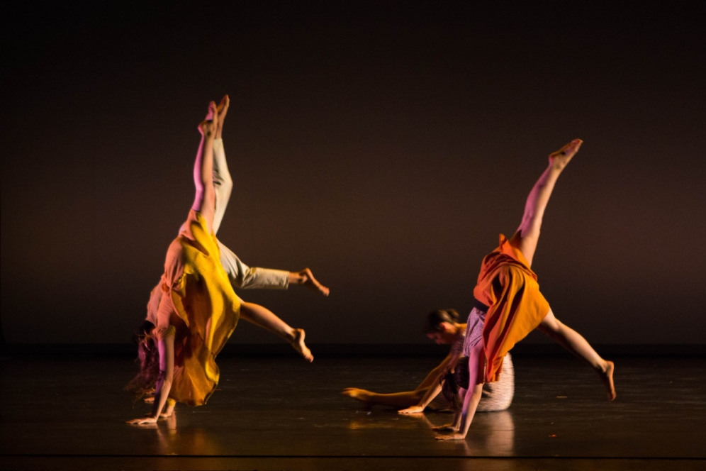 """""""Homing"""" choreographed by Katie Ailes, Bates College 2014. Photo courtesy of Ebbe Sweet."""
