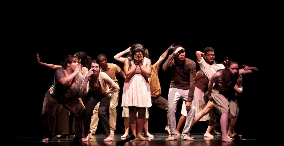 """""""Subverting Normal #2"""" choreographed by Tiffany Rhynard and students, Bates College, 2012."""