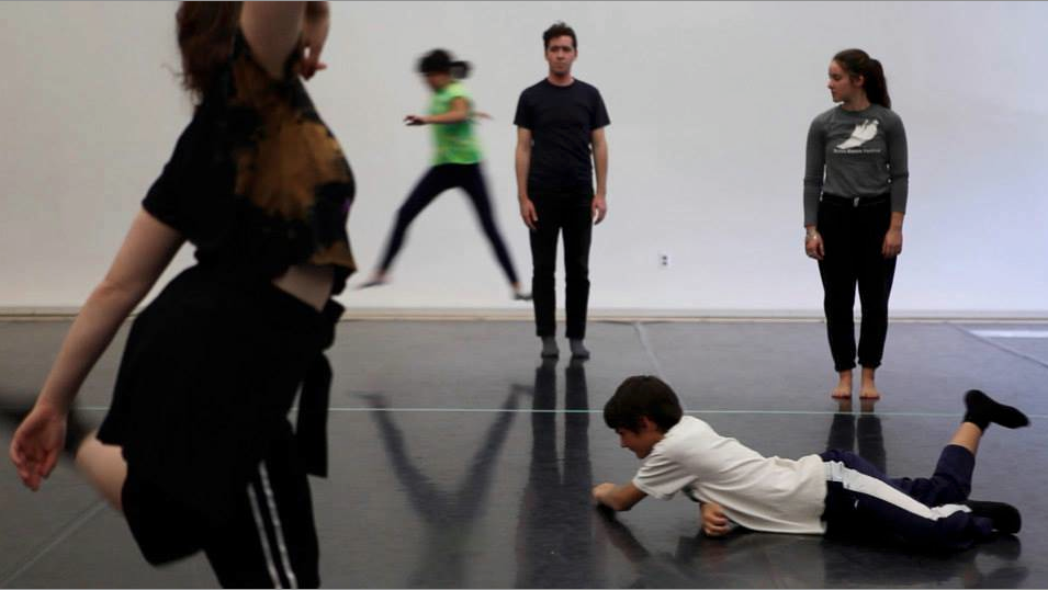 Video Dance workshop with Alexis Iammarino and Scott Sell, Bates College, 2014.