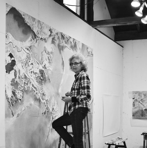 Susan Crile in the Studio