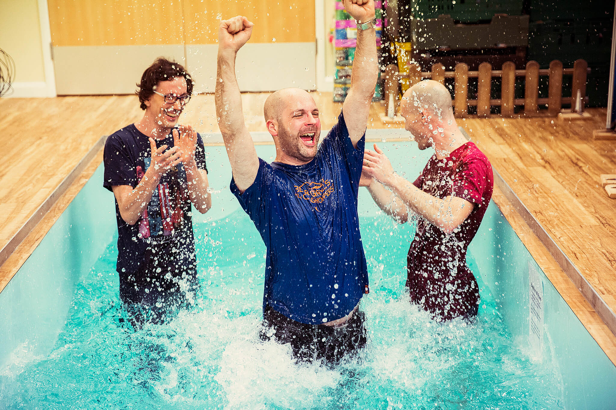 Baptism - If you want to be baptised, we have baptismal services at least once per term.