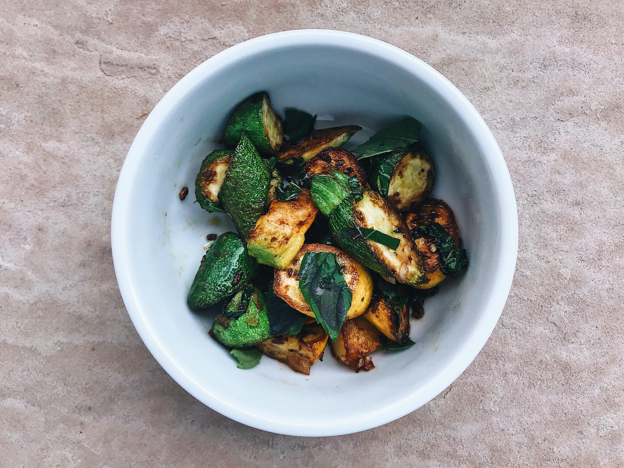 roasted zucchini vegan