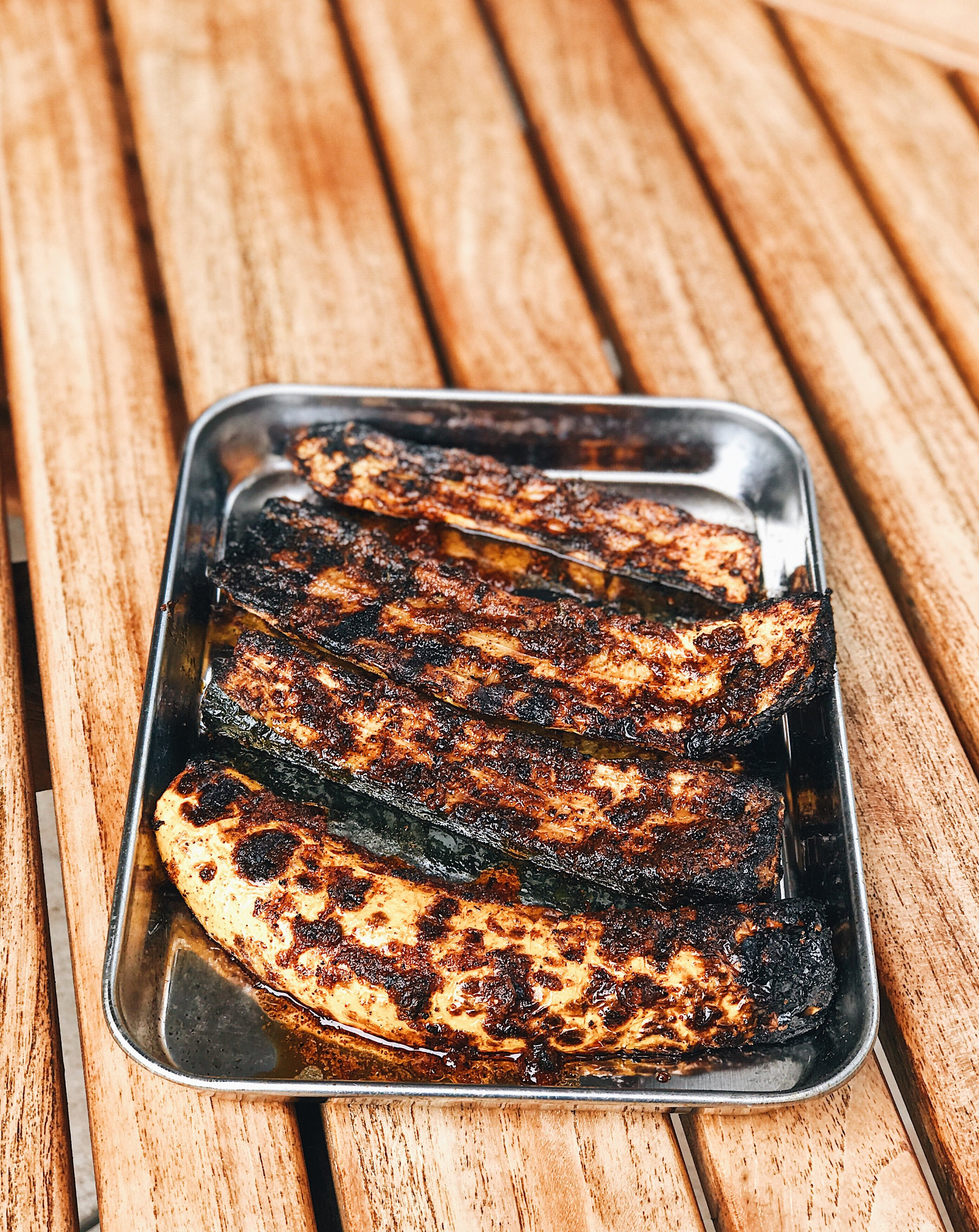 grilled spiced zucchini