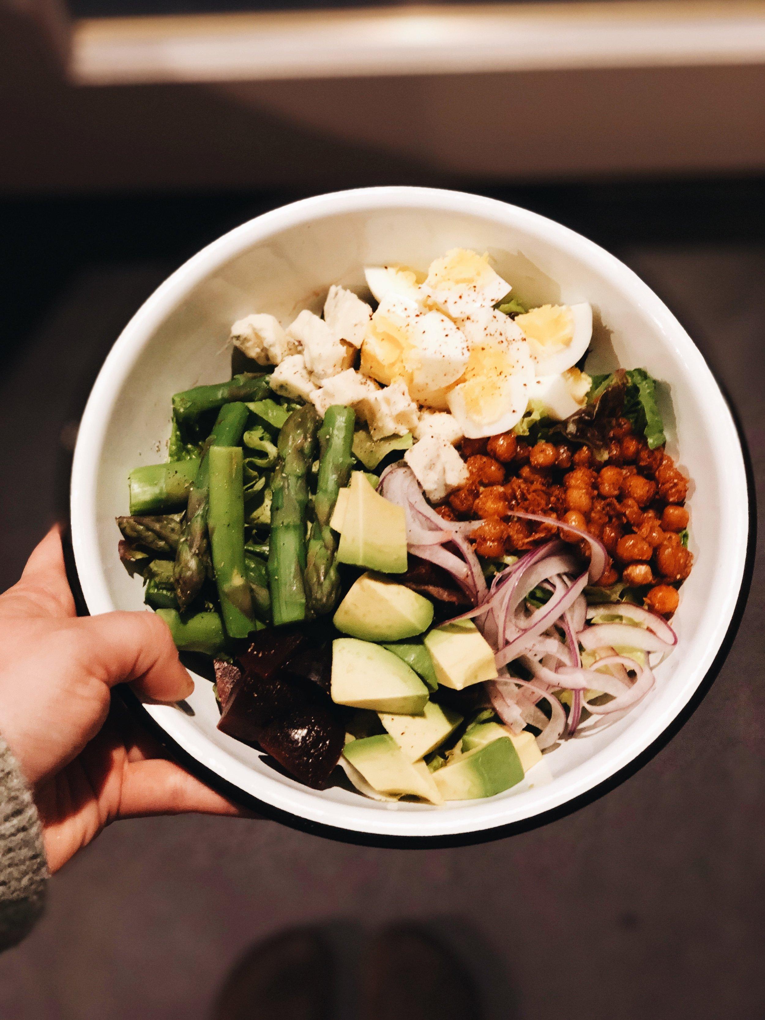 vegetarian cobb salad recipe