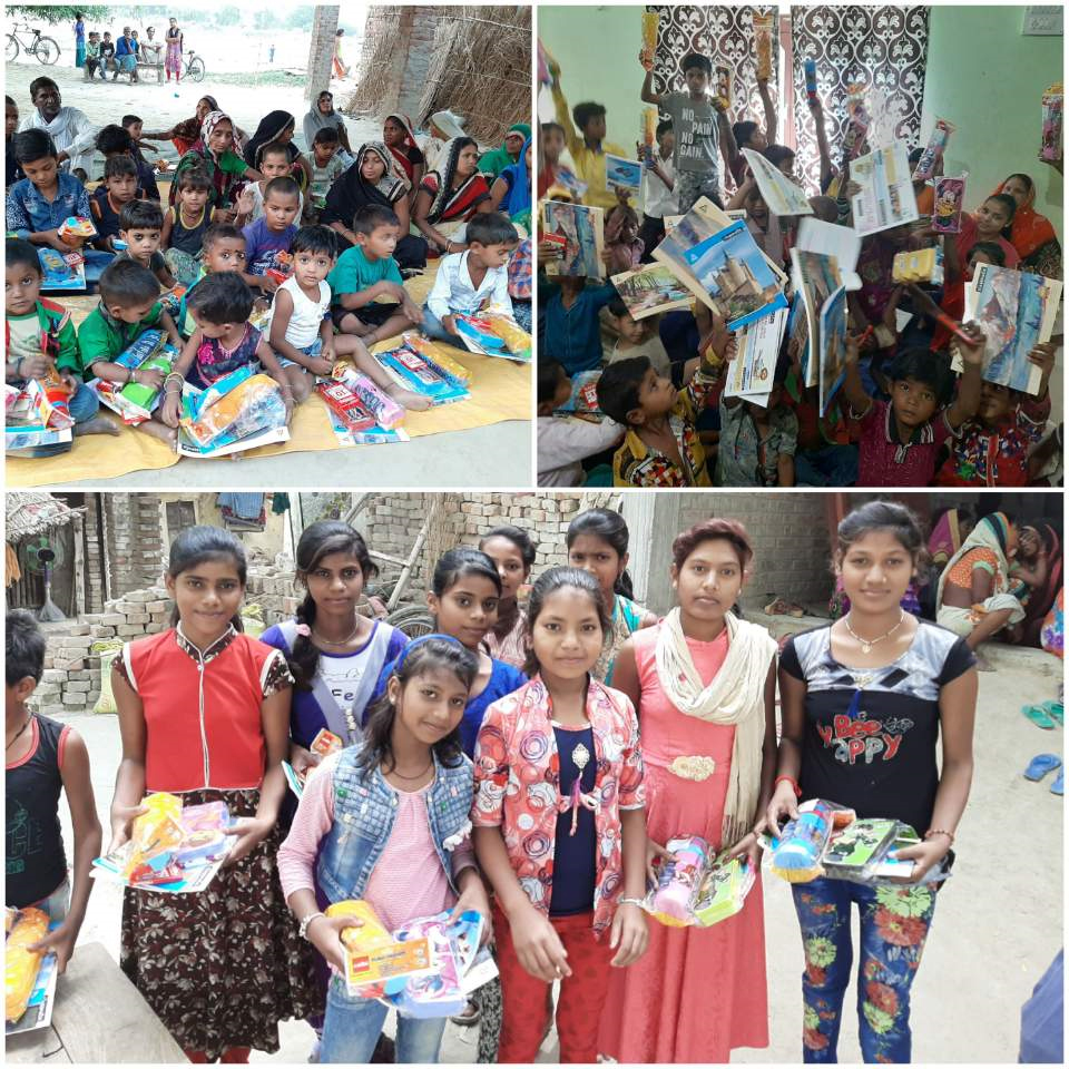 <한 청년의 후원으로 바라나시 120명의 아이들에게 필요한 학용품과 물통을 선물했습니다. 감사합니다.>