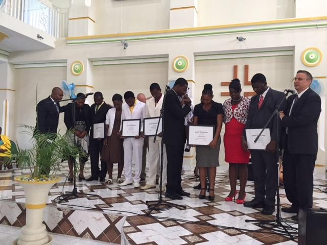 Summer 2017 graduation ceremony at Harvest Jacmel