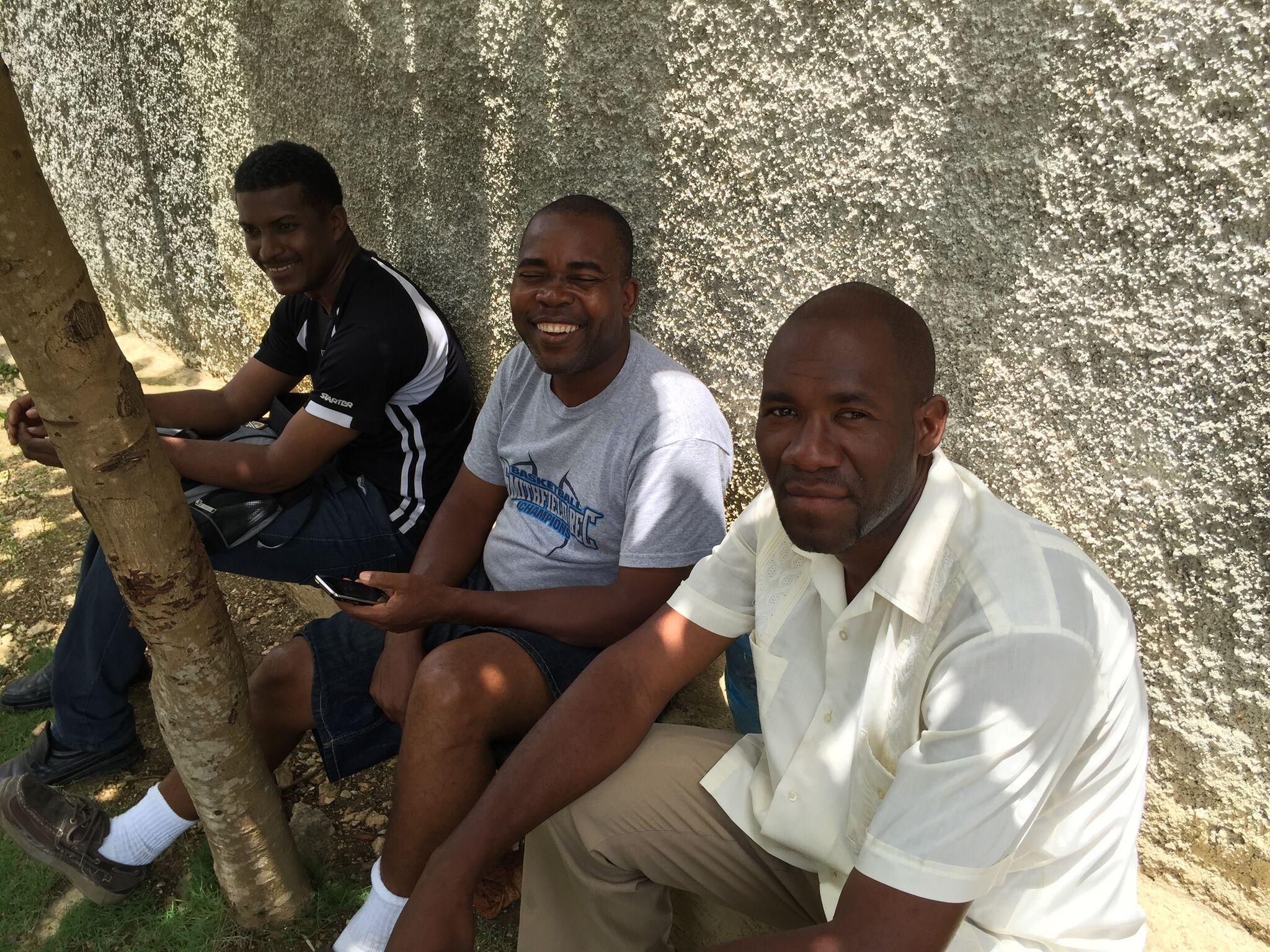 Left to right: Pastor Antoine (Cap Rouge), Pastor Abraham (Jacmel), and Pastor Renel (Montagne La Voûte)