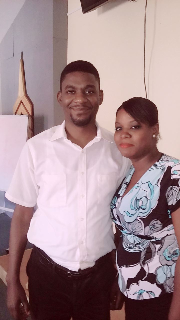 Pastor Jethro and his wife Vanessa at the training program