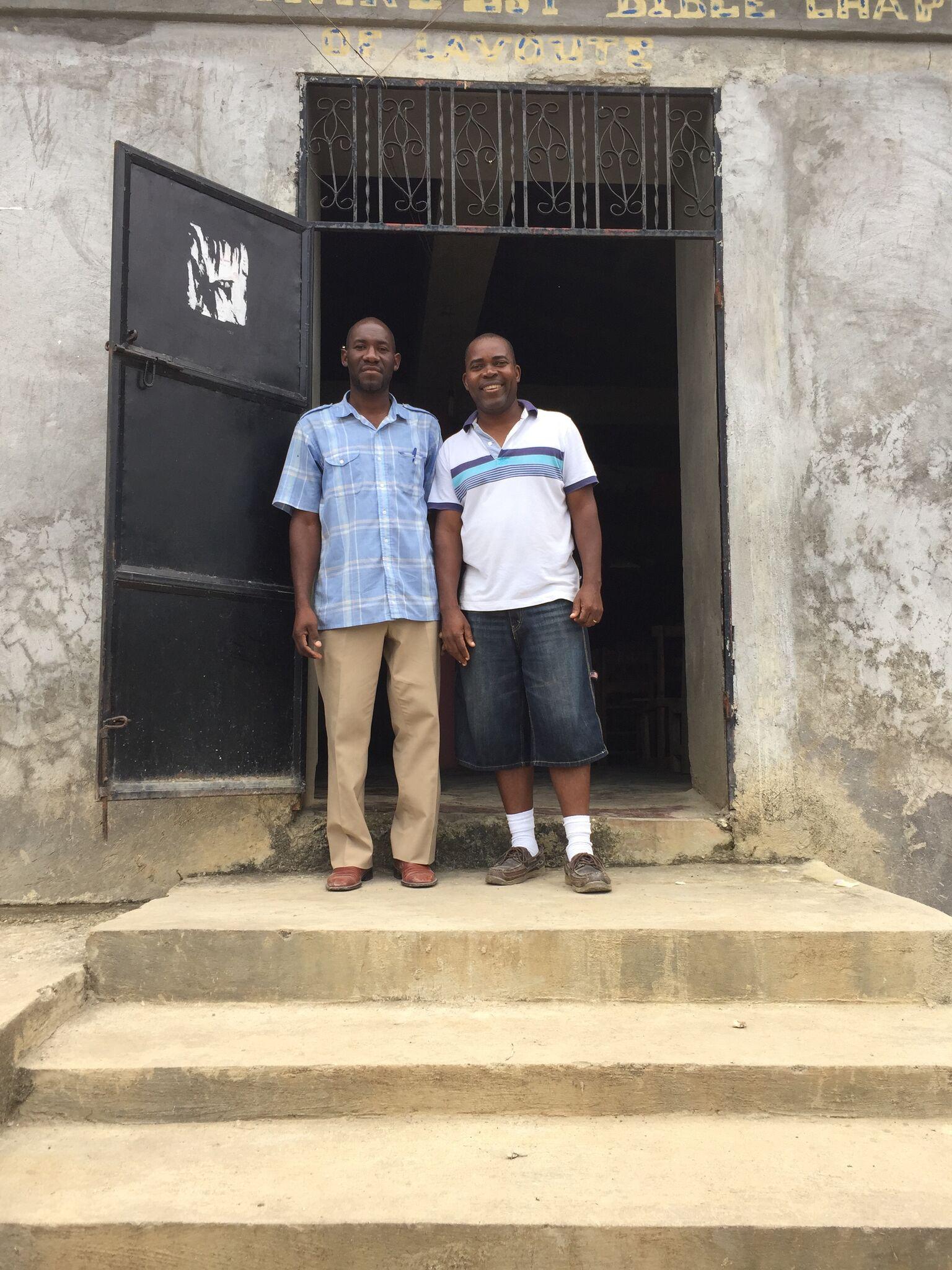 Pastor Renel and Pastor Abraham at Harvest Montagne La Voûte