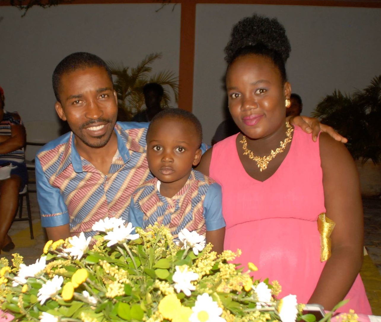 Pastor Venet, his son Asaph, and his wife Gabrielle