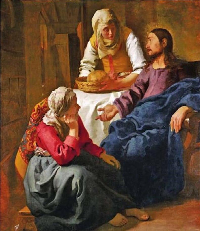 Christ in the House of Martha and Mary  Johannes (Jan) Vermeer - 1655-56