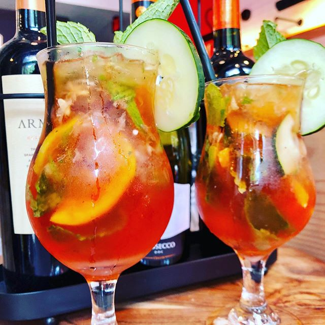 In this heat, we are loving these @worldtastebar: Refreshing Pimm's Cup with your choice of vodka or rum. #cocktails #midtownatl #brunch