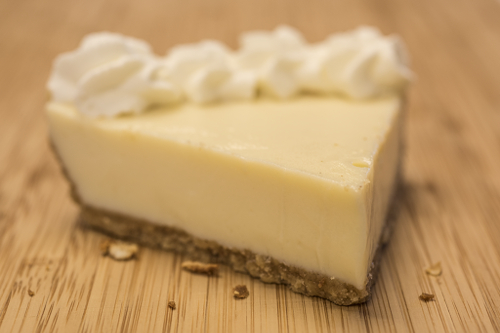Cheesecake made with Cinnamon & Brown Sugar Butter graham cracker crust.