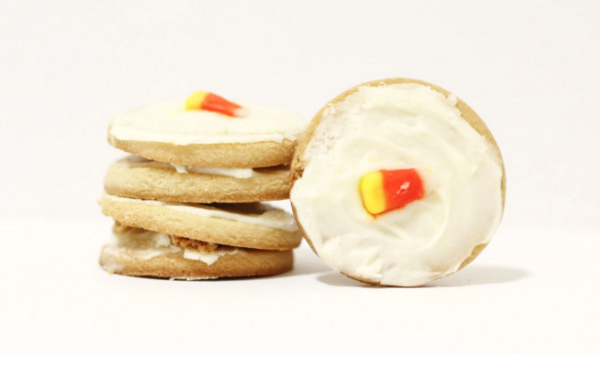Sugar cookies and buttercream made with Honey Orange Butter.