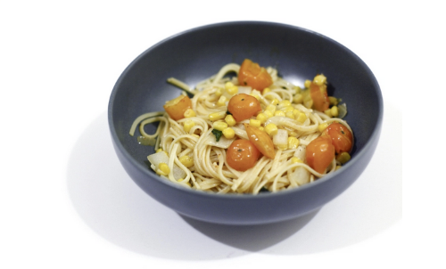 Summertime Linguine made with Tomato Chipotle Butter.