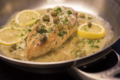 Chicken Piccata made with Lemon Garlic & Herb Butter.