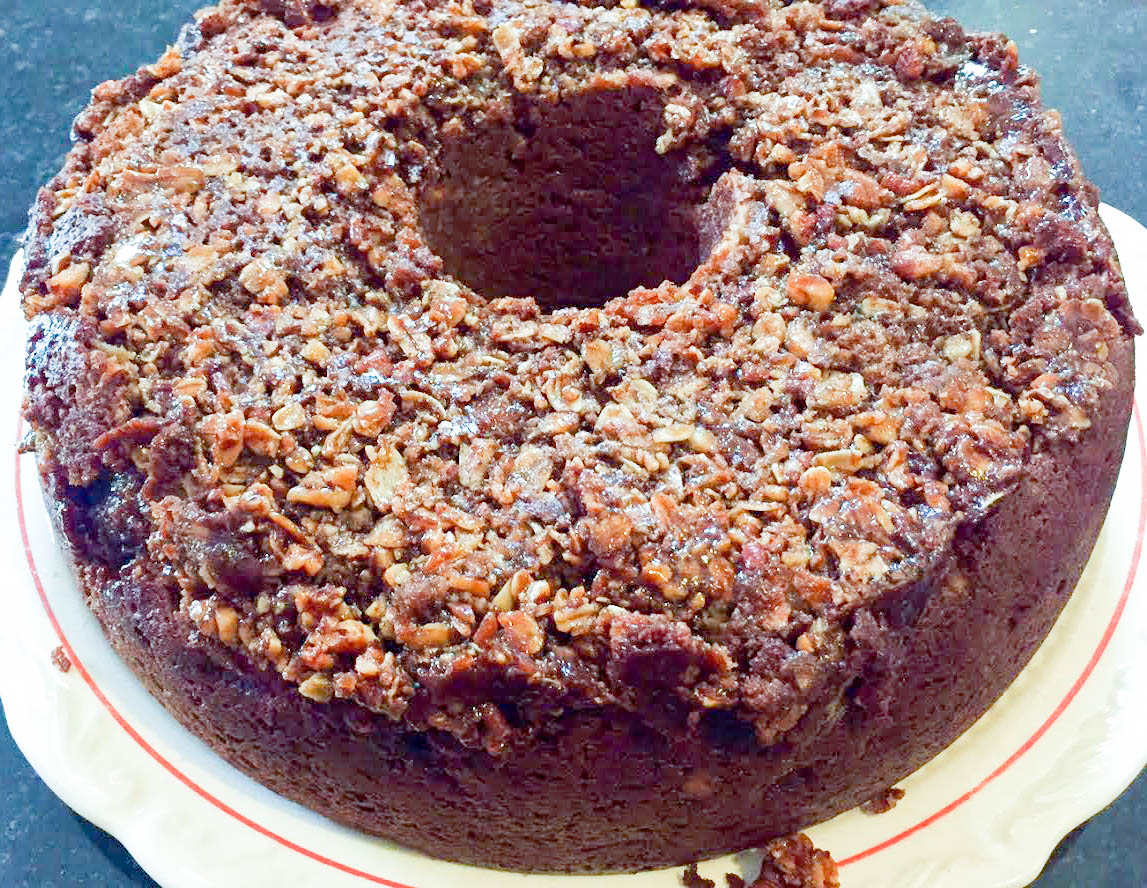 Apple Cinnamon Coffee Cake made with Epicurean Cinnamon & Brown Sugar butter