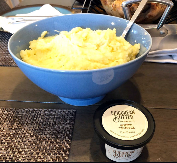 Pictured here: Mashed Potatoes with White Truffle Butter