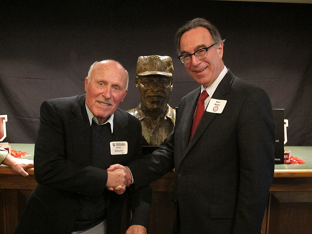Hobie Billingsley with sculptor Marc Mellon.