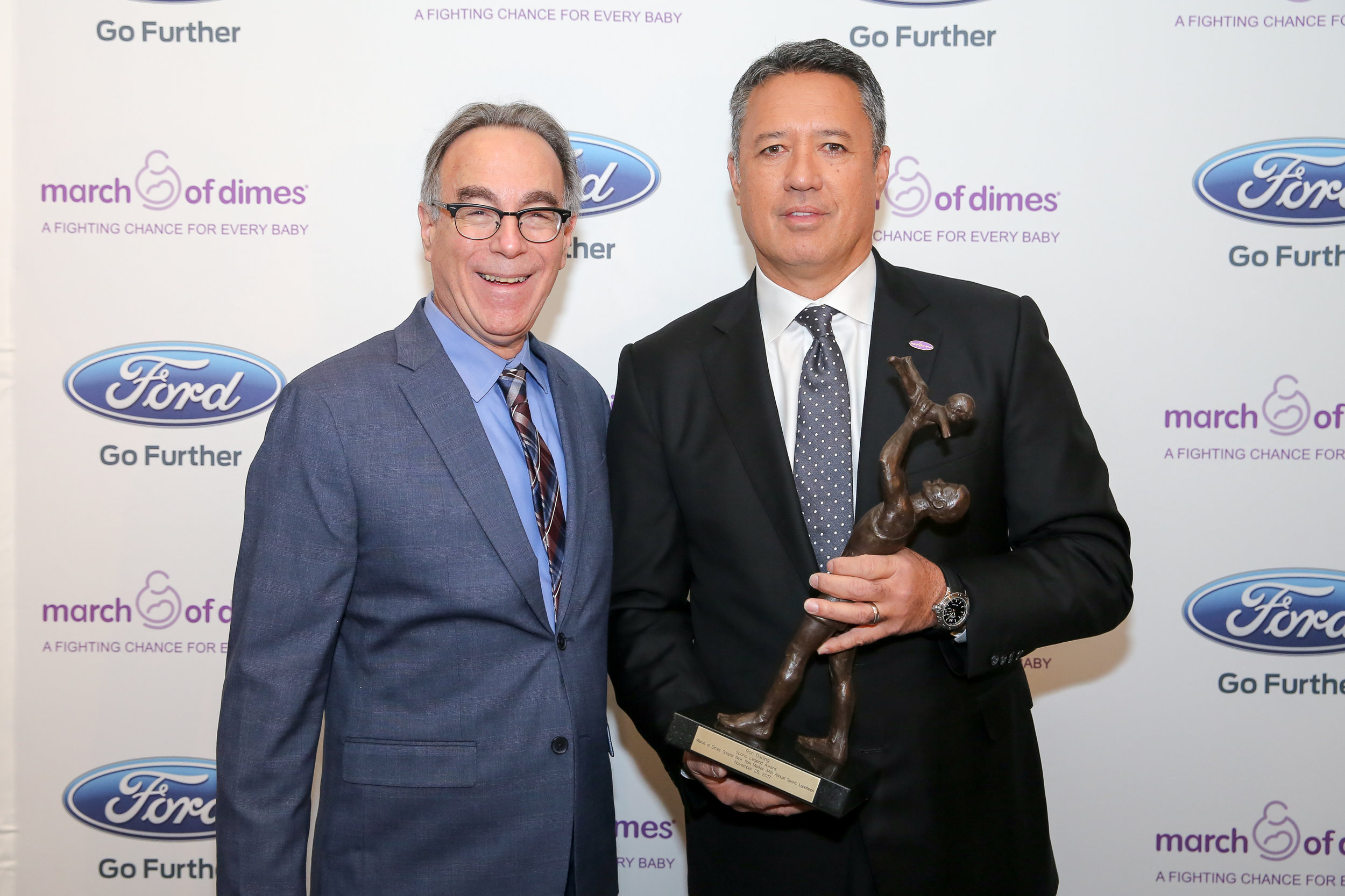 Mellon with honoree Ron Darling, sports broadcaster and former NY Mets star pitcher. Photos © Hechler Photography