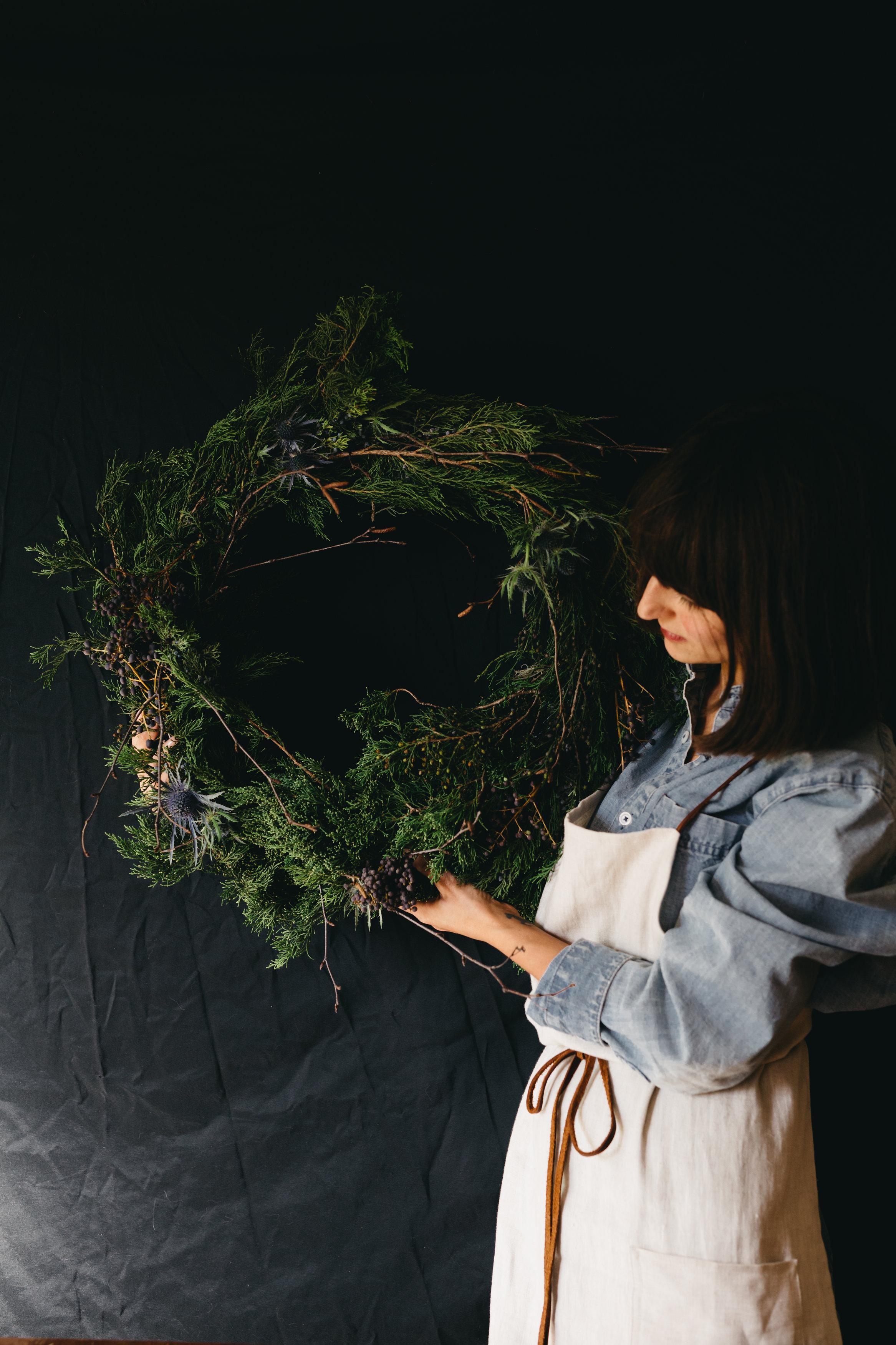 Wreath DIY for Pure Green Magazine