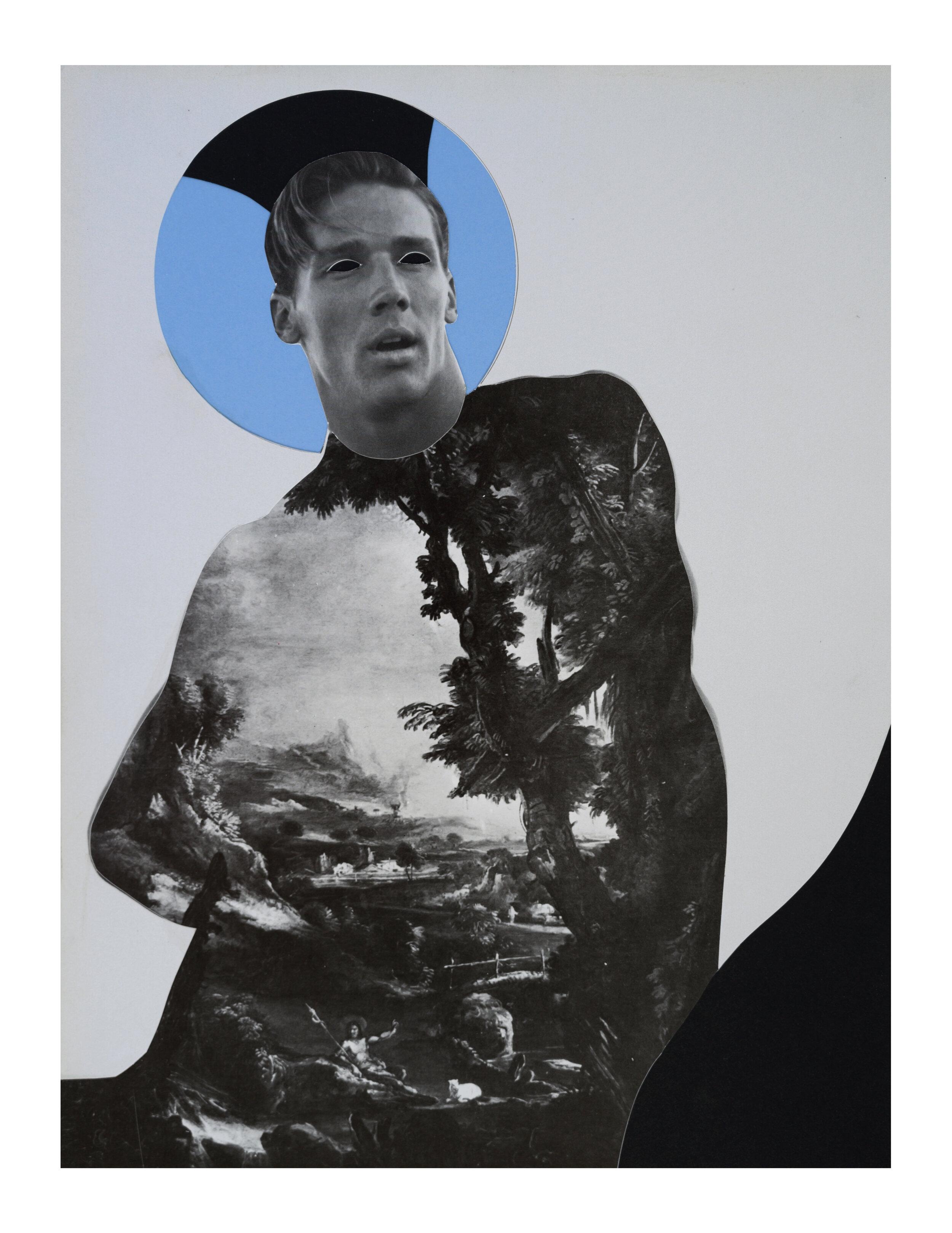 'AWAKENING' | analog  collage on 100Ib Bristol, 11 x 14 inches. 2019.