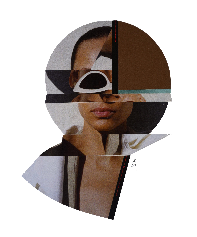 'CELINE' | analog  collage on 100Ib Bristol, 11 x 14 inches. 2019.